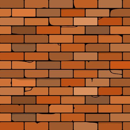 brick wall: brick wall vector illustration made as background