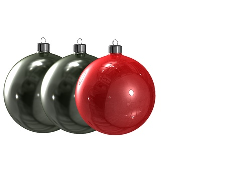 Christmas Background balls  photo