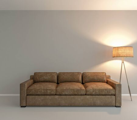 sofa: Wall art background, place your creative on this wall. Stock Photo