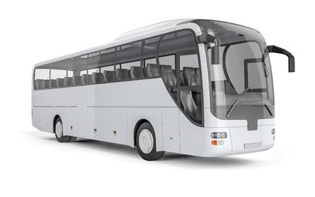 あなたの創造的な設計のための空白の表面と市バス。