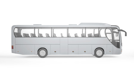 motor coach: City bus with blank surface for your creative design.