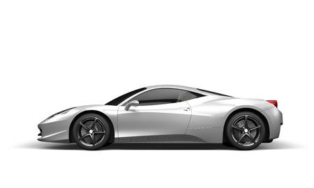 Super sport auto op een witte achtergrond, 3D illustratie