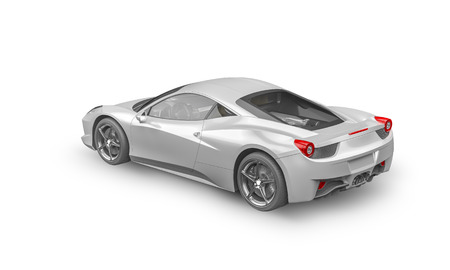 racecar: Super sport car on white background, 3D illustration Stock Photo