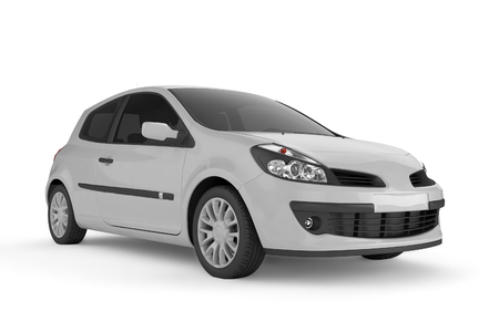 motor coach: City car with blank surface for your creative design. 3D illustration