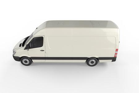 big truck: Big Truck Background - Blank mockup for design - 3D illustration Stock Photo