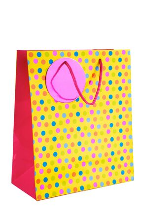 Gift bag isolated on the white background photo