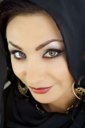 Arab woman with decorative make-up photo