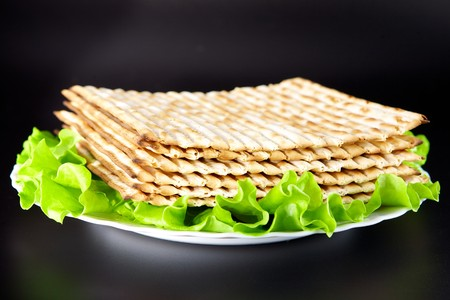 Jewish religious feast Passover traditional food Matza  Stock Photo - 7465816