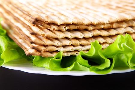 pesaj: Religiosos jud�os fiesta comida tradicional de Pascua matz�  Foto de archivo