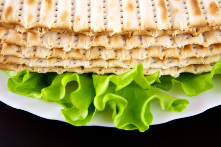 the feast of the passover: Jewish religious feast Passover traditional food Matza