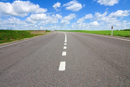 Long road stretching out into the distance Stock Photo - 8799279