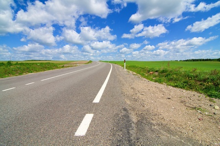 Long road stretching out into the distance Stock Photo - 8799246