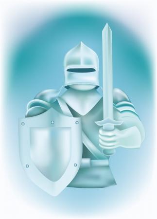 agression: Chevalier en armure Illustration