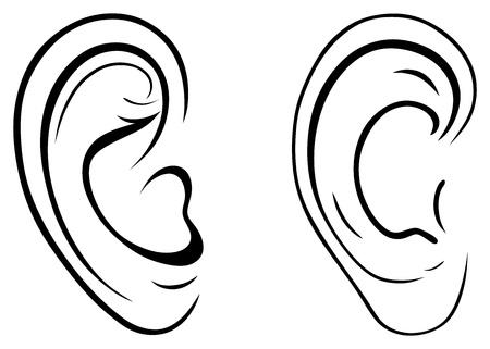 ohr: Zeichnen menschliche Ohr