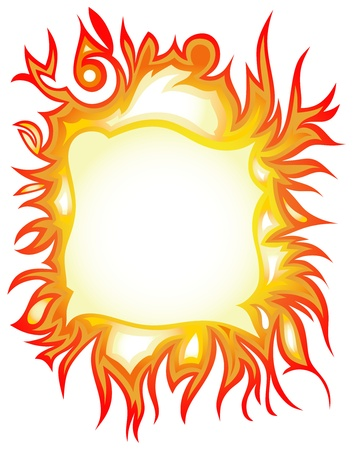 Vector set: fire flames - collage Vector