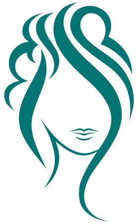 Beautiful woman with long hair Stock Vector - 15785564