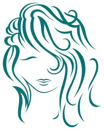 Beautiful woman with long hair Stock Vector - 15785567