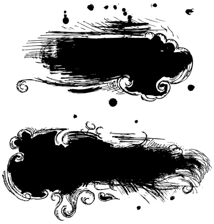 blot: Black stains