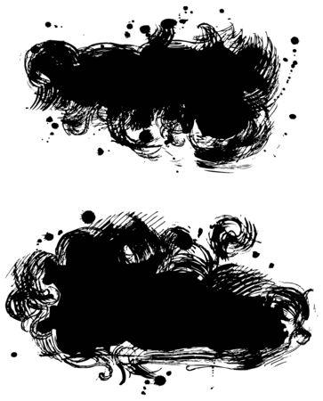 ink splat: Black stains
