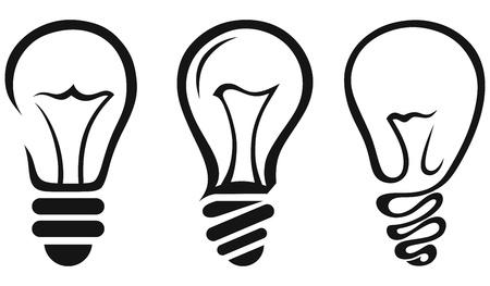 raggi di luce: Lampadina. Vettore