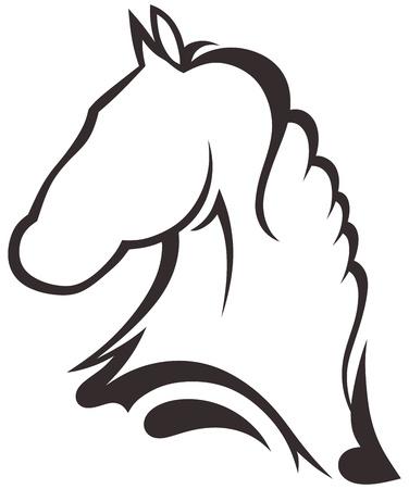 yegua: Silueta caballo negro