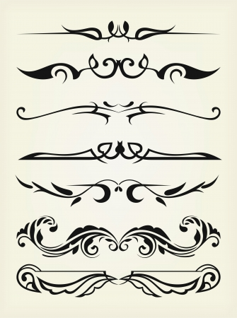 dividers: Vector set: calligraphic design elements and page decoration - lots elements to embellish your layout