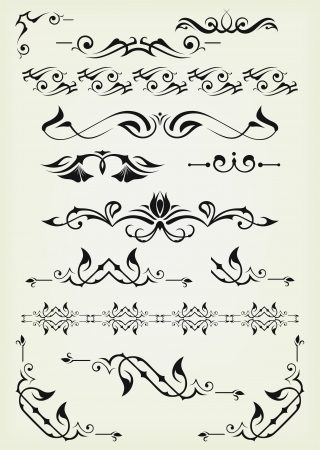 decorative line: Vector set: calligraphic design elements and page decoration - lots elements to embellish your layout