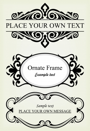 page divider: Vector set: calligraphic design elements and page decoration - lots elements to embellish your layout