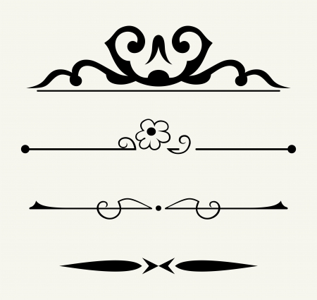 fretwork: Vector set: calligraphic design elements and page decoration - lots elements to embellish your layout