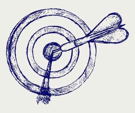 target shooting: Sketch pencil. Target