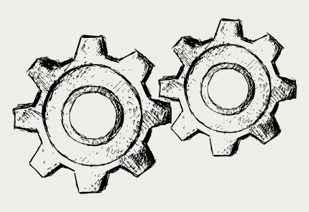 rueda dentada: Engranajes vectoriales