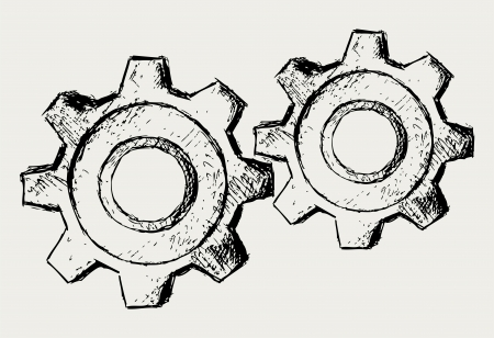 cogs and gears: Vector gears
