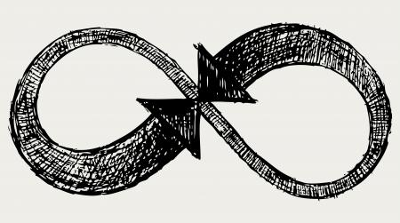 simbolo infinito: Infinito s�mbolo Vectores