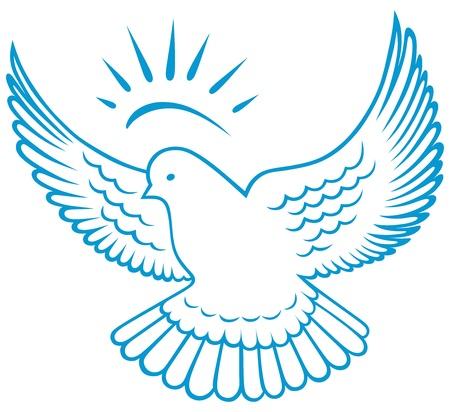 paloma volando: paloma s�mbolo