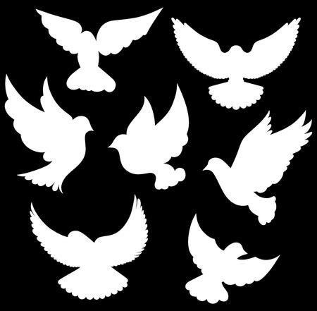 dove in flight: dove symbol
