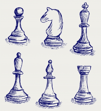 games hand: Chess figures