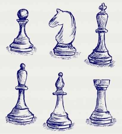 ajedrez: Figuras de ajedrez Vectores
