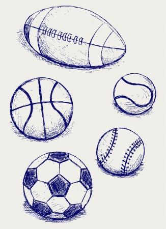 sport balls: Set sport balls