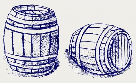 wine barrel: Beer barrels Illustration
