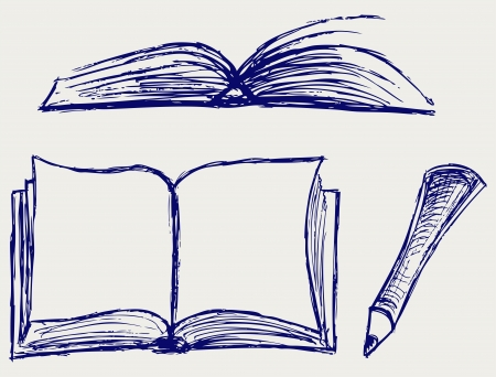 closed book: illustration of books isolated on the white background