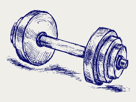 hand weight: Sketch dumbbell weight