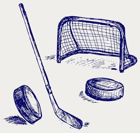 hockey stick: Hockey icon Illustration