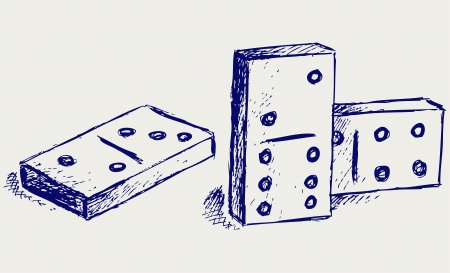 Sketch dominoes Stock Vector - 15831698