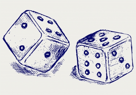 draw a sketch: Sketch two dices