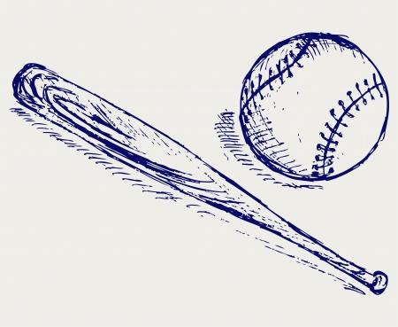 dessin au trait: Baseball Bat et
