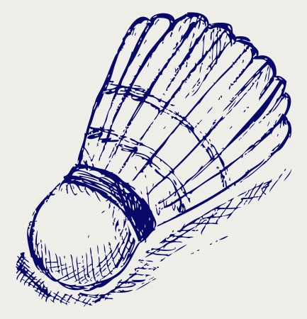 shuttlecock: Sketch badminton ball