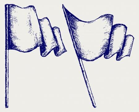 folded hand: Waving flag