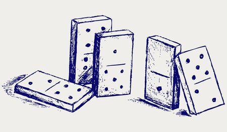 dominoes: Sketch dominoes