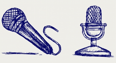 vocal: Sketch microphone Illustration
