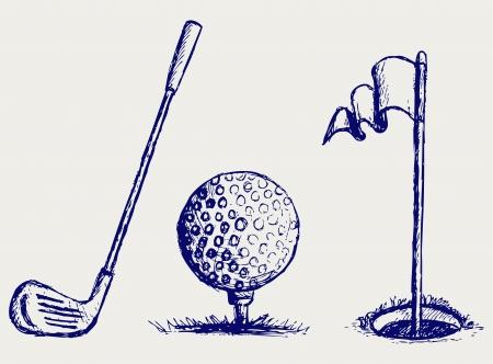 golf drapeau: Golf jeu d'ic�nes